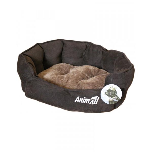 AnimALL Royal M chocolate Лежак для собак и котов фото