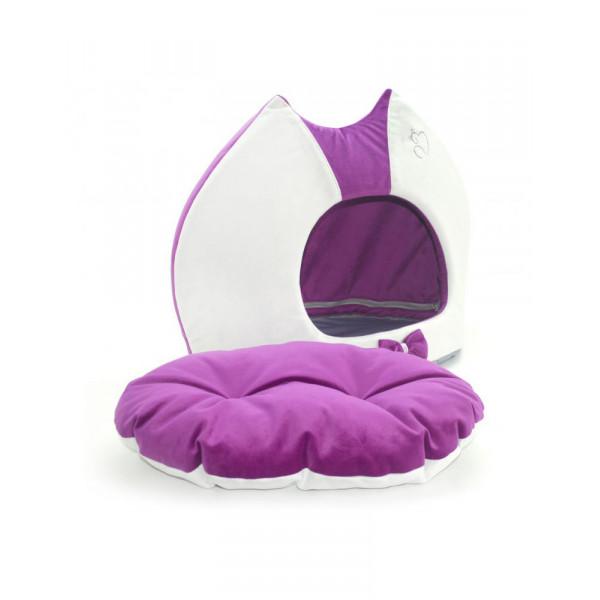 """Лори  Будка """"Cat"""" для котов и маленьких пород собак, фиолетовая фото"""