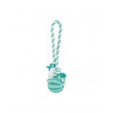 Trixie Denta Fun Мяч на веревке с мятой  фото