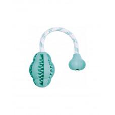 Trixie Denta Fun Мяч на веревке с мятой 28см фото