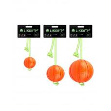 Liker Lumi  - мячик для собак со шнуром, который светится в темноте фото