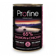 Profine Консервы для собак с лососем и мясом курицы  фото
