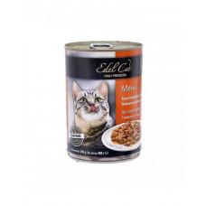 Edel Cat Ніжні шматочки в соусі 3 види м'яса фото