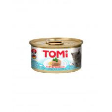 TOMi For Kitten with Salmon Консерва для кошенят з лососем, мус фото