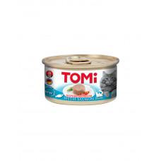 Tomi Salmon Консерва для дорослих котів з лососем, мус фото