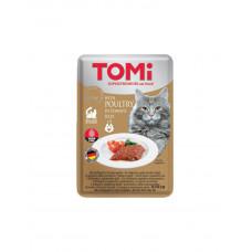 TOMi POULTRY in tomato jelly Консерва для котів з птахом в томатному желе фото