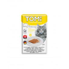 TOMi Sterilised Chicken in Jelly Консерва для стерилізованих котів з куркою в желе фото