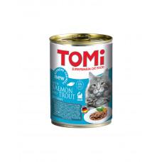 TOMi salmon trout ЛОСОСЬ ФОРЕЛЬ консерви для кішок фото