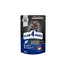 Клуб 4 лапи Premium для дорослих собак малих порід з качкою та індичкою в соусі фото