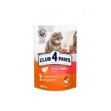 Клуб 4 лапи Premium для дорослих котів з індичкою в желе фото