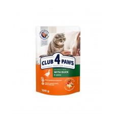 Клуб 4 лапи Premium для дорослих котів з качкою в соусі фото