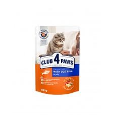 Клуб 4 лапи Premium для дорослих котів з тріскою в желе фото
