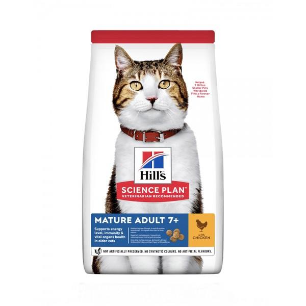 Hill's Science Plan Mature Adult 7 + Active Longevity корм для кішок з куркою фото
