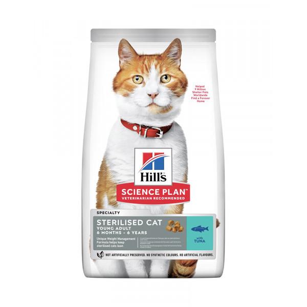 Hill's Science Plan Young Adult Sterilised Cat корм для кішок з тунцем фото
