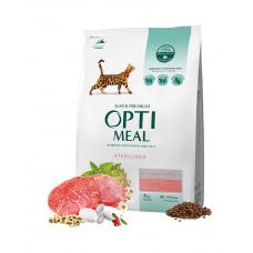 OptiMeal Для взрослых кастрированных котов и стерилизованных кошек - говядина и сорго фото