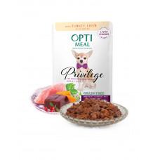OptiMeal Беззерновой влажный корм для взрослых собак малых пород c индейкой и печенью в тыквенном желе фото