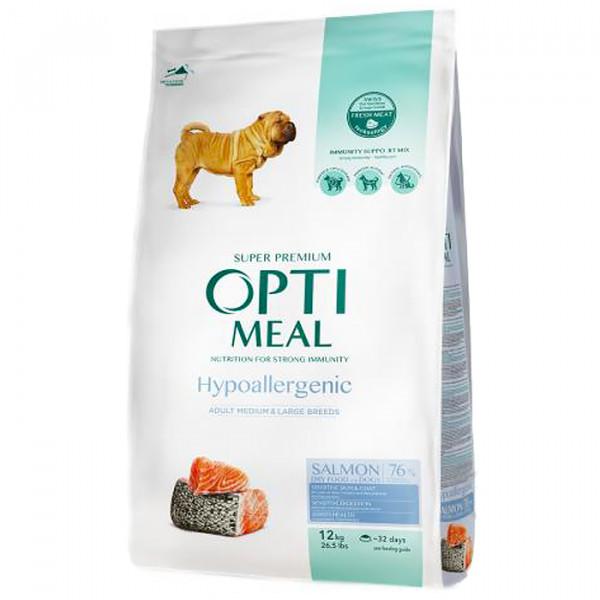 OptiMeal Гіпоалергенний корм для дорослих собак середніх і великих порід - лосось  фото