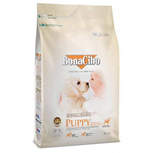 BonaCibo Puppy Chicken&Rice with Anchovy фото