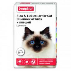 Beaphar Ошейник от блох и клещей для кошек 35 см Белый фото