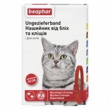 Beaphar Ошейник от блох и клещей для кошек красный фото