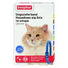 Beaphar Ошейник от блох и клещей для кошек синий фото