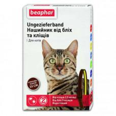 Beaphar Ошейник от блох и клещей для кошек коричнево-желтый фото