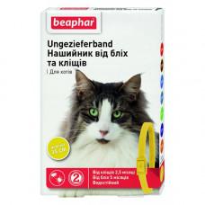 Beaphar Ошейник от блох и клещей для кошек желтый фото