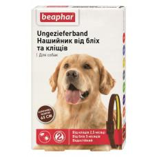 Beaphar Ошейник от блох и клещей для собак коричнево-желтый фото