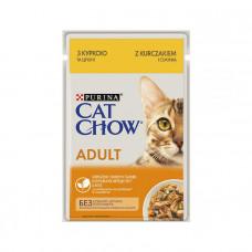 Cat Chow Adult з куркою і кабачками  фото