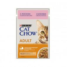 Cat Chow Adult з лососем і зеленою квасолею фото