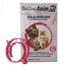 AnimAll Ошейник противопаразитарный VetLine для кошек и собак Коралловый фото