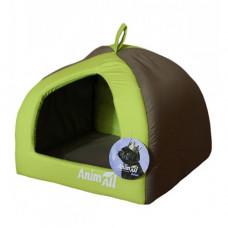 AnimALL Wendy M Лежак-будиночок для собак та кішок зелений фото