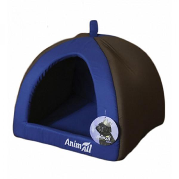 AnimALL Wendy M Лежак-домик для собак и кошек синий фото