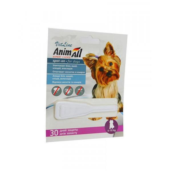 AnimAll VetLine Spot-On капли от блох и клещей для собак, вес 4-10 кг фото