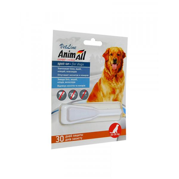 AnimAll VetLine Spot-On краплі на холку від бліх і кліщів для собак 20-30 кг (6.0 мл) фото