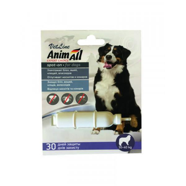 AnimAll VetLine Spot-On капли на холку от блох и клещей для собак 30-40 кг (8.0 мл) фото