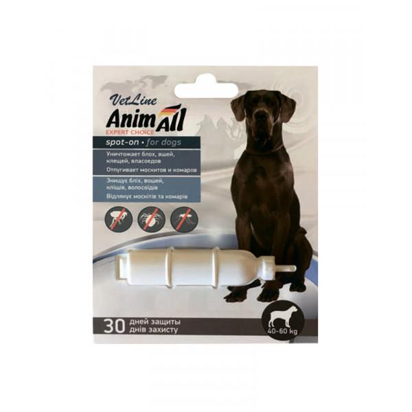 AnimAll VetLine Spot-On капли на холку от блох и клещей для собак 40-60 кг (10.0 мл) фото