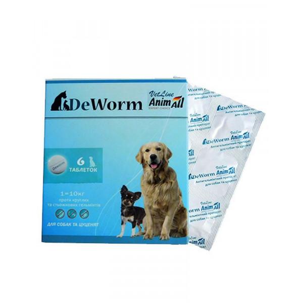 AnimAll Антигельминтный препарат VetLine DeWorm для собак и щенков фото