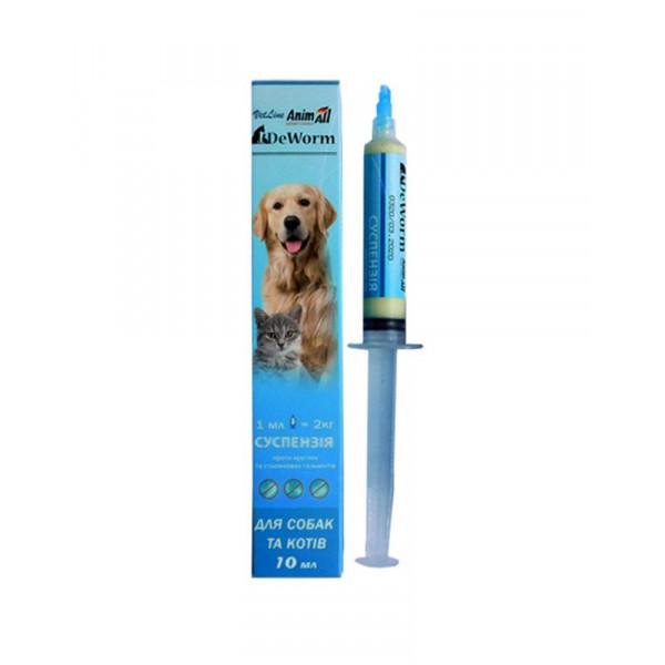 AnimAll VetLine DeWorm суспензія від глистів для кішок і собак фото