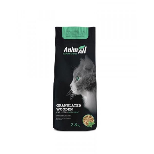 AnimAll Древесный наполнитель с ароматом мяты 2,8 кг  фото
