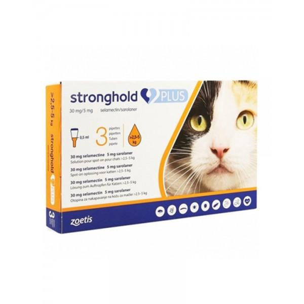Stronghold (Стронгхолд) Засіб від бліх, кліщів і глистів для кішок вагою 2.5-5 кг фото