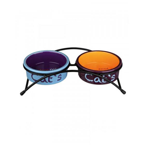 Trixie «Eat on Feet» Миски керамические на подставке (разноцветные) фото