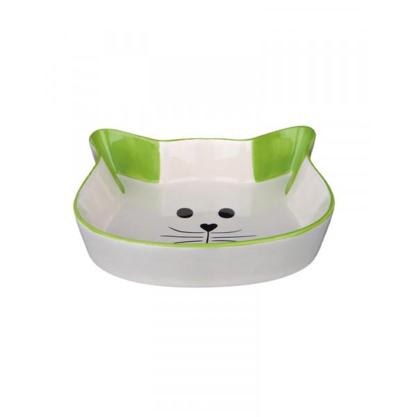 Trixie Миска керамическая (кошачья мордочка) фото