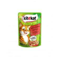 Kitekat Для котов с говядиной в соусе фото