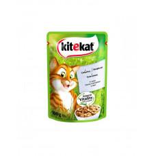 Kitekat Для котов с телятиной в соусе фото