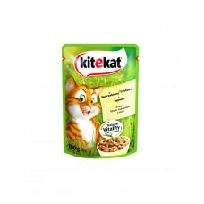 Kitekat Для котов с курицей в соусе фото