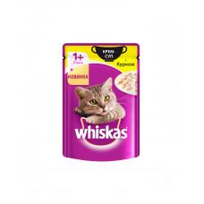 Whiskas Влажный корм для котов крем-суп с курицей фото
