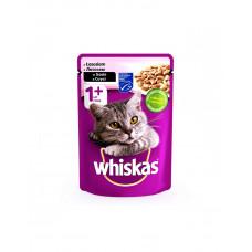 Whiskas С лососем в соусе для взрослых кошек фото