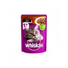 Whiskas С индюшкой в соусе для взрослых кошек фото