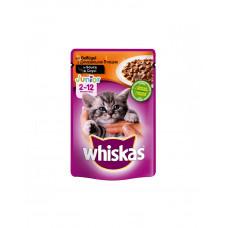 Whiskas С домашней птицей в соусе для котят фото